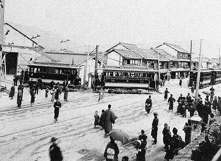 市街電車開業当日の様子