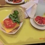 インディアン博物館で食べた、バッファロー・バーガー。なかなかの味でした。